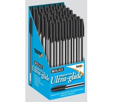 Tiger Black Ball Point Pen Box (50 Pack) 8P Each