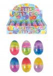 EGG AMOEBA 6X4CM GLITTER SLIME PUTTY