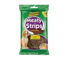 MEATY STRIPS WITH LAMB & RICE - 18 STRIPS