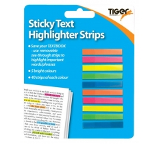 Neon Sticky Text Highlighter Strips
