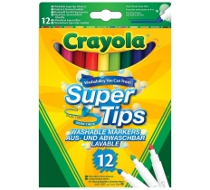 12 PACK CRAYOLA BRIGHT SUPER TIPS