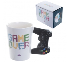 GAME OVER GAME CONTROLLER SHAPED HANDLE MUG