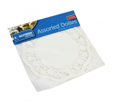 36 Pack Assorted Paper Doilies