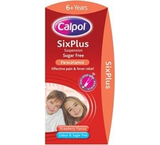 CALPOL SIXPLUS COLOUR & SUGAR FREE X 6