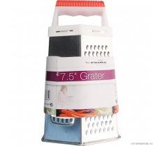 7.5'' 6 Sided Grater with Plastic Handle