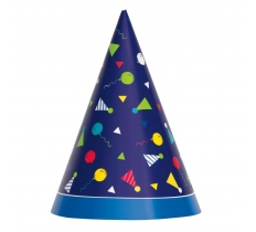 Peppy Birthday Party Hats 8ct