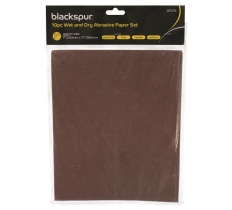 BLACKSPUR 10PC WET AND DRY ABRASIVE PAPER