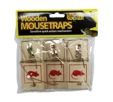 TRADITIONAL WOODEN MOUSETRAPS 3 PACK