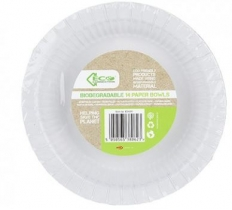 "ECO CONNECTION DEGRADABLE 14PACK 7.5"" WHITE PAPER BOWL"