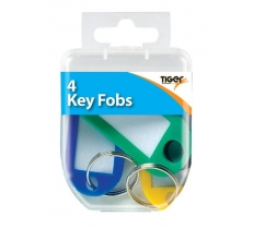 Essential 4 Key Fobs Coloured