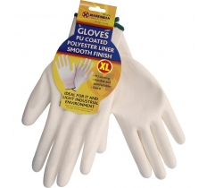 10''-13G White Coating Smooth Finish Gloves