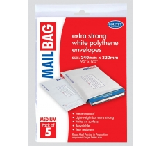 Polythene Mail Bags 240 x 320mm (5 Pack)