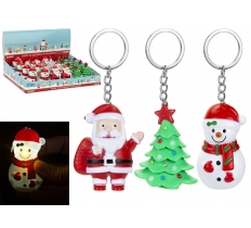 LIGHT UP CHRISTMAS KEYRING WITH SOUND