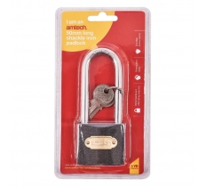 50mm LONG SHACKLE IRON PADLOCK