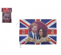 "ROYAL WEDDING COUPLE 33"" X 23"" RAYON FLAG WITH STRING"
