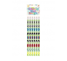 GAMER PENCILS WITH ERASER TOP 6 PACK