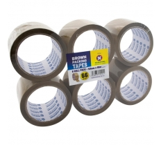 6pc Packaging Tape Brown 48mm x 66M