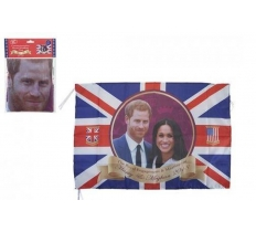 "ROYAL WEDDING COUPLE 52"" X 31"" RAYON FLAG WITH GROMMITS"