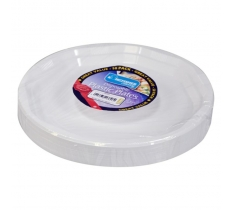 50 Pack 10inch White Disposable Plastic Plate