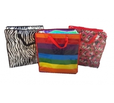 ZEBRA RAINBOW BUTTERFLY SHOPPING LAUNDRY BAG 45 X 50 X 20CM