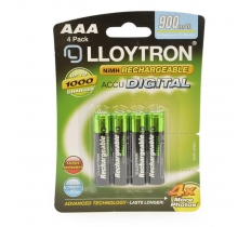 Lloytron AAA 900mAh Rechargeable Battery