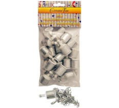 PARTY POPPERS SILVER HOLOGRAPHIC 20 PACK