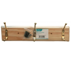 BLACKSPUR 3 HOOK HAT AND COAT RACK - PINE