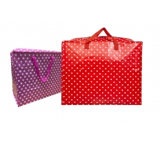 POLKA DOT LAUNDRY SHOPPING BAG 45CM X 50CM X 20CM