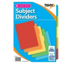 TIGER A4 5 PART CARD DIVIDERS