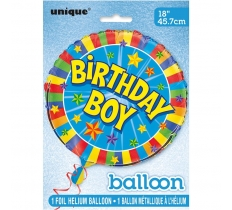 "18"" PKG BIRTHDAY BOY FOIL BALLOON"