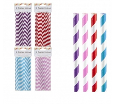 50PACK 20CM PAPER STRAWS 300GSM