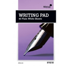 SILVINE A5 WRITING PAD PLAIN 40 SHEETS