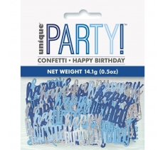 BIRTHDAY BLUE GLITZ HAPPY BIRTHDAY CONFETTI .5OZ