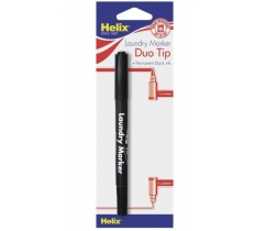 Helix Duo Tip Laundry Marker, Carded