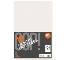 10 C4 White Envelopes