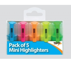 Pack of 5 Mini Highlighters