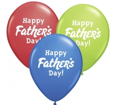 "11"" HAPPY FATHERS DAY 50PACK BALLOONS"