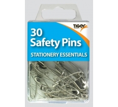 Essential 30 Safety Pins Steel