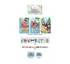 PIRATES STATIONERY SET 5 PACK