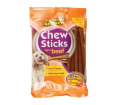 20PK CHEW STICKS HIGH IN BEEF