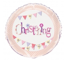 "18"" PINK CHRISTENING BALLOON"