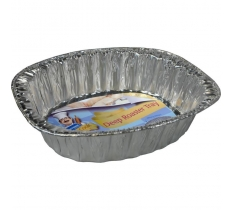 "14"" OVAL FOIL DEEP ROASTING TRAYS 3 PACK"