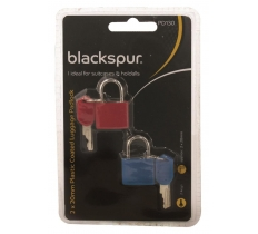 2 X 20MM PLASTIC COATED LUGGAGE PADLOCK