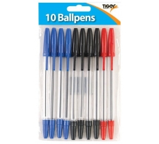 Tiger Ball Point Pen 10 Assorted
