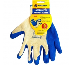 Natural Rubber Coated Gloves size 9