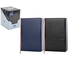 A5 LINED LEATHER LOOK LINED NOTEBOOK 80 SHEETS