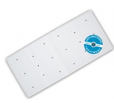 Anti-Bacterial Rubber Bath Mat - White