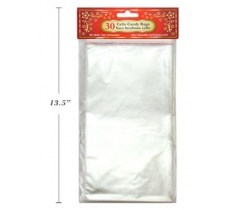 30PACK SELF SEALING CELLO CANDY BAG 11X4.75""