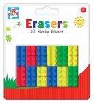 BRICK SHAPE ERASERS