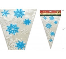 "20PACK 7"" X 15"" SNOWFLAKE CELLO CONE CANDY BAG"